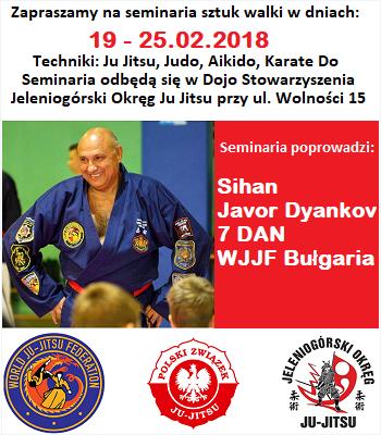 Zaproszenie na seminarium sztuk walki z Javorem Dyankovem (7 DAN) z Bułgarii